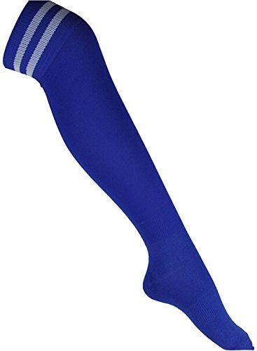 Freedi Womens Mens Cotton Knee Length High Football Socks Stockings Blue Made by #Freedi Color #Blue. High elasticity socks,soft and breathable. It gives you a better looking curved body. Knee high socks. Material:combed cotton<br> Size:free<br> socks height:45cm<br> feet length:23-30cm<br> suitable for feet:size 39-43<br> gender:womens/mens. Hand wash cold.Do not bleach.Hang dry