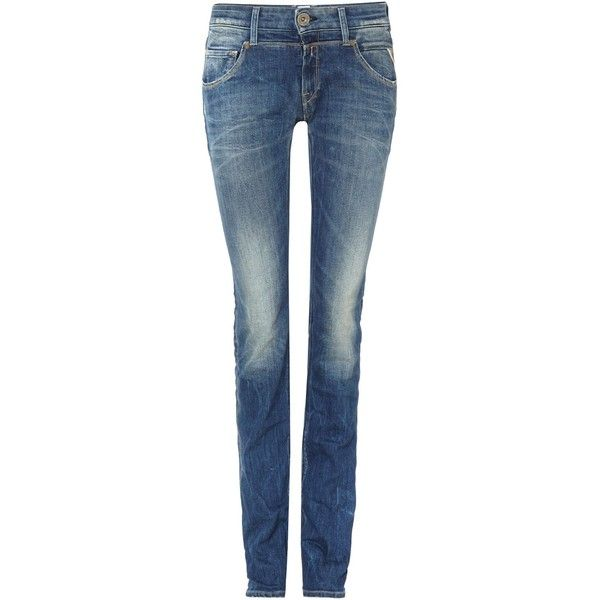 Replay Lorraine Denim Jeans ($97) ❤ liked on Polyvore featuring jeans, bottoms, denim dark wash, sale, replay jeans, straight jeans, dark wash jeans, 5 pocket jeans and blue jeans