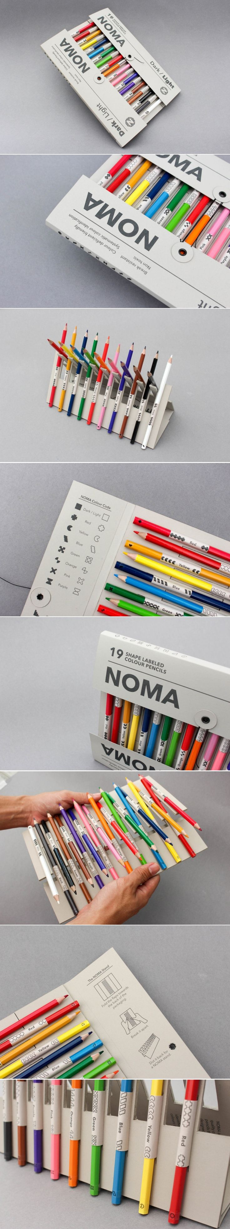 This Concept Aims To Make Choosing a Colored Pencil Easier for Those Who Are Colorblind — The Dieline | Packaging & Branding Design & Innovation New