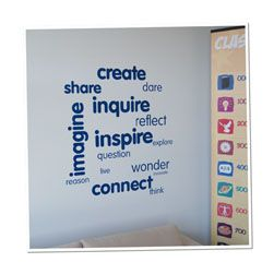 Values Vinyl Lettering Word Wall 15 Pack