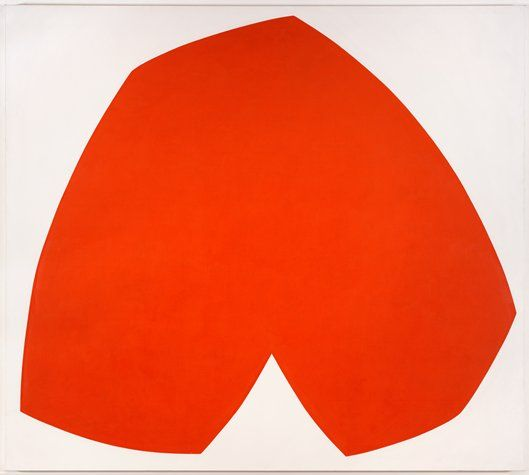 Ellsworth Kelly, Red White, 1962; painting; oil on canvas, 80 1/8 in. x 90 1/4 in. (203.52 cm x 229.24 cm); Collection SFMOMA, T. B. Walker Foundation Fund purchase; © Ellsworth Kelly