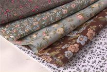 5 темный цвет браун россии синий цветочный цветок печатных хлопчатобумажной ткани для шитья лоскутное ткань жир квартал тильда стежка 50 * 50 см(China (Mainland))
