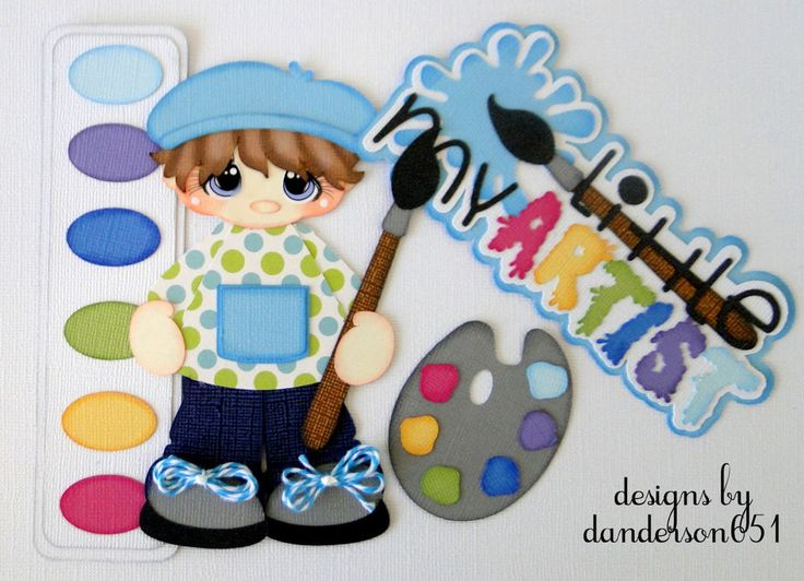 listed on ebay...danderson651 Artist, Boy, Paints, Paper Piecing, Scrapbooking, PreMade, Album paperdesignz.com facebook - danderson651