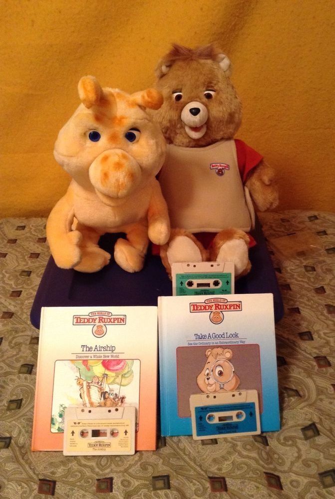 Electric Teddy Ruxpin And Grubby Display Lot Worlds Of Wonder
