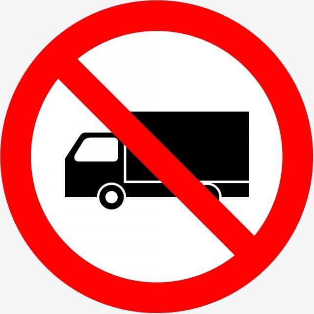 No Truck Forbidden Sign No Truck Forbidden Sign No Allow Png