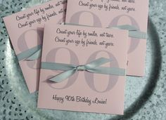 If you are planning a adult birthday party our custom lottery ticket envelopes will be perfect! Our party favors for a 90th birthday are personalized for the guest of honor with a large number 90 and their own birthday wish. Shown here in bright fun colors your choice of envelope color and ribbon color. These custom lottery ticket envelopes measure 5 x 5 and can also be used for a CD or DVD. They can also be made for any birthday, 50th, 60th, 70th or even 80th birthday. These are also great…