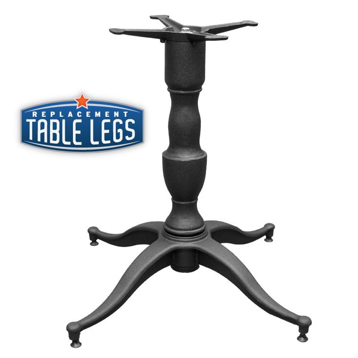 """Replacementtablelegs.com - Cast Iron Decorative Table Base, 32""""x32"""", 4-Leg, 28"""" Height, Cast Iron Column, Base and Spider Attachment, SINGLE , $115.97 (http://www.replacementtablelegs.com/cast-iron-decorative-table-base-32x32-4-leg-28-height-cast-iron-column-base-and-spider-attachment-single/)"""