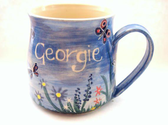 Little girls mug customised mug childs mug Mug Handpainted