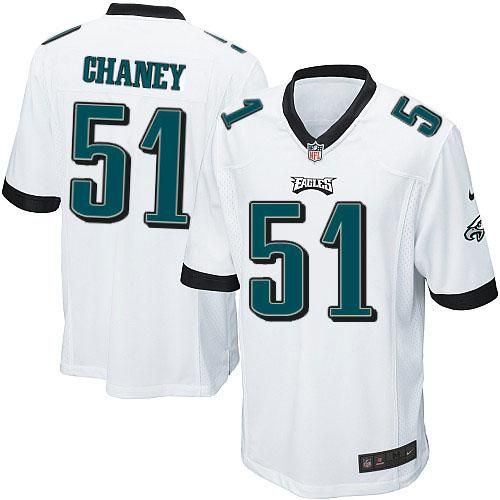 Nike NFL Philadelphia Eagles #51 Jamar Chaney Limited Youth White Road Jersey Sale