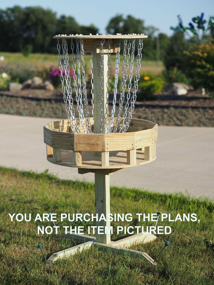 Details about pdf plans disc golf target professionally
