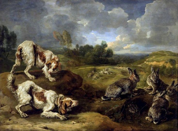 Ян Фейт - Охотничьи собаки и дикие кролики. 117х157. М Лихтенштейн