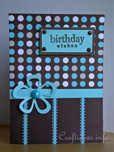 Birthday Card in Retro Look