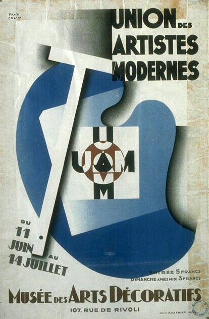 Poster by paul colin union of moderns artists musée des arts décoratifs