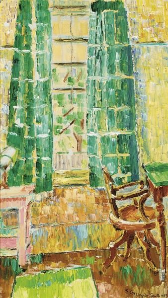 GRACE COSSINGTON SMITH  Interior with Curtains (1959)