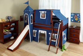 I love this bed...but do you think they would ever go to sleep with a slide in their room?