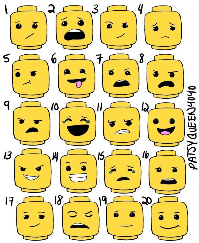 Lego Face Expressions lego + head +printable lego faces expressions ...