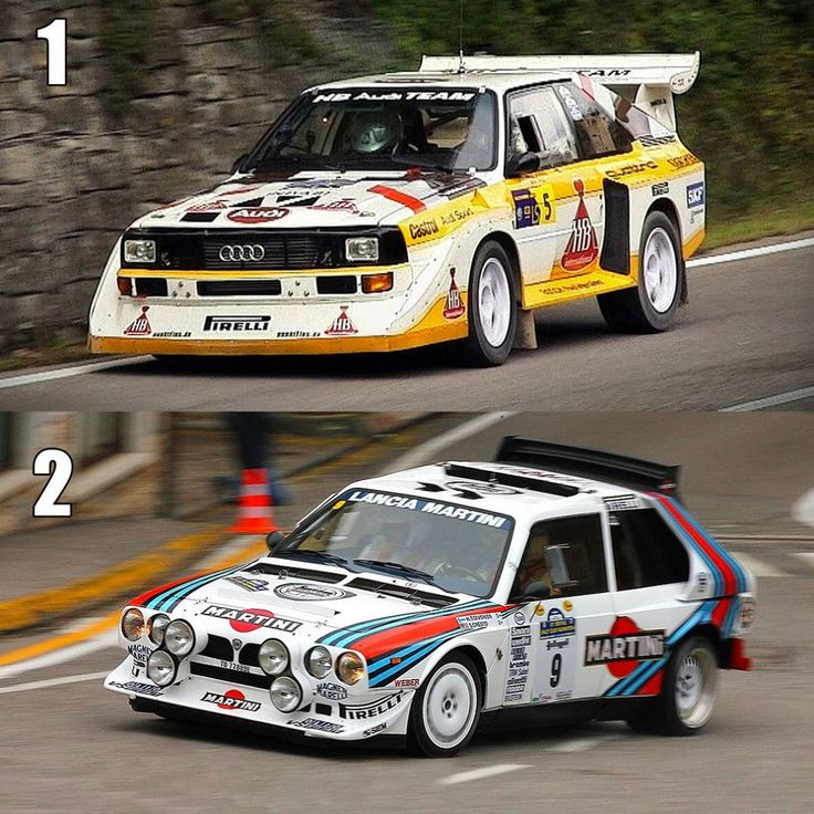 Clash of the GroupB-Titans! Choose your favourite: #Audi #S1E2 #quattro (1) or #Lancia #Delta #S4 (2) 📊 #instarally #carporn #instacars #turbo #power #rallying #duell #car #boost #rallyemag
