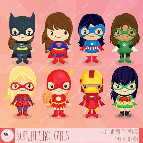 Superhéroe niñas Imágenes Prediseñadas imágenes prediseñadas