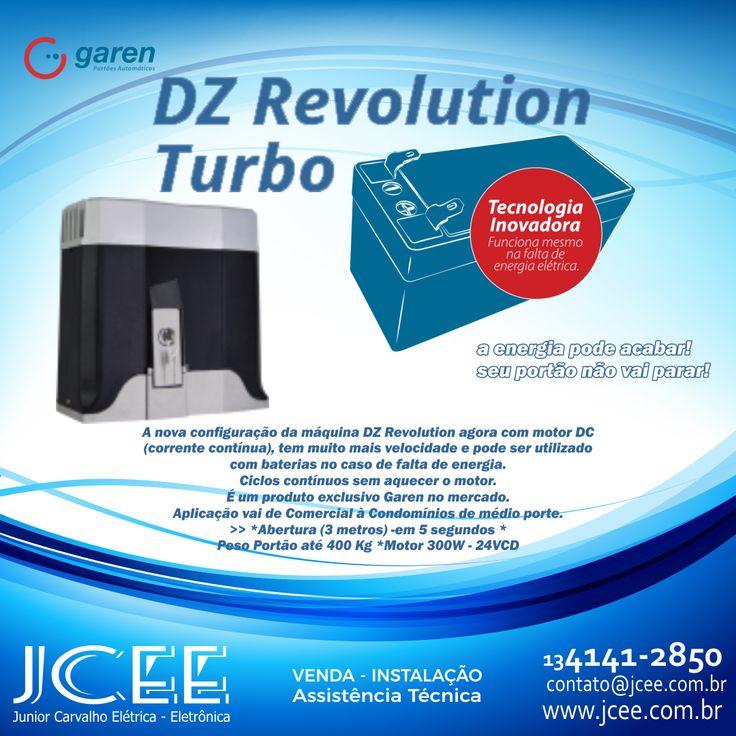 DZ Revolution Motor para portão deslizante  Funciona com bateria