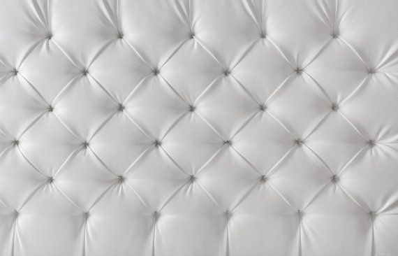 WHITE BUTTONED CUSHION vinyl Photography Backdrop