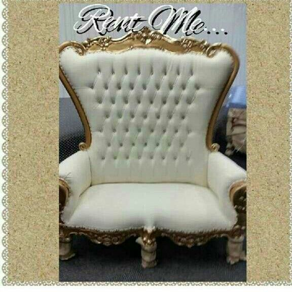 royal white and gold wedding baby shoer sweet sixteen bench rental