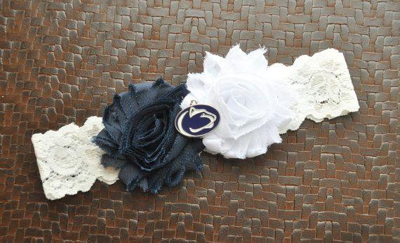 Penn State Wedding Garter Penn State Bridal by SportsGarterShop