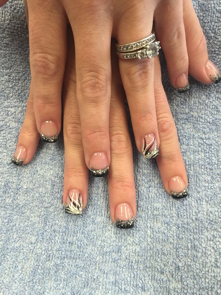 65 best nails designs images on pinterest france french and black and silver solar nail with a design by kayla le prinsesfo Choice Image