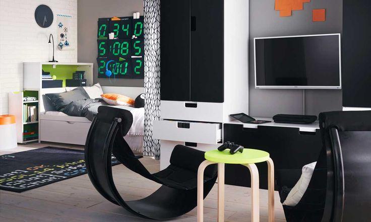 M s de 1000 ideas sobre habitaci n gamer en pinterest Disenar habitacion ikea