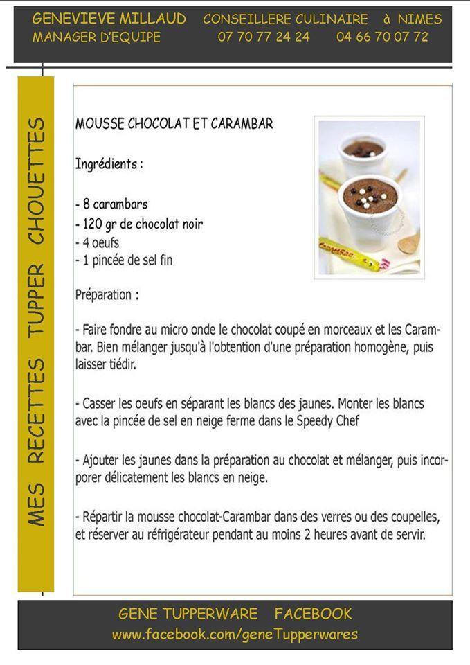 Mousse chocolat et carambar
