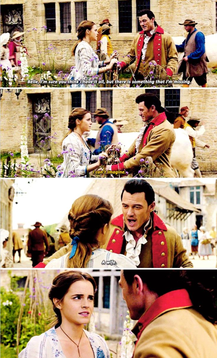 Beauty and the Beast - deleted scene<--HER FACE. Oh I hope there's going to be a director's cut option on the blu ray.