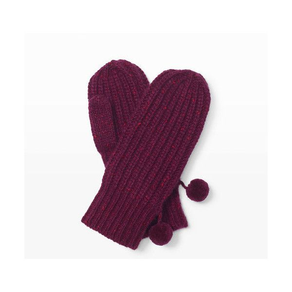 Club Monaco Carllye Cashmere Mitten in Color Purple ($49) ❤ liked on Polyvore featuring accessories, gloves, purple, mitten gloves, cashmere mittens, club monaco gloves, purple mittens and club monaco