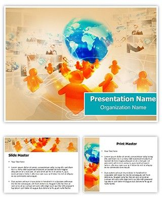 1000 images about free powerpoint ppt templates on for Social networking sites free templates download