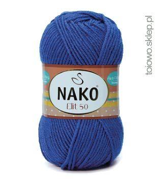 błękit królewski, miękka włóczka z akrylu premium, Nako Elit 50