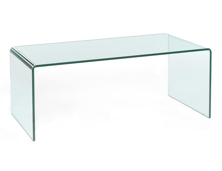Glass coffee table visio w111cm d60cm h45cm w43 5 d23 5 for Table design visio