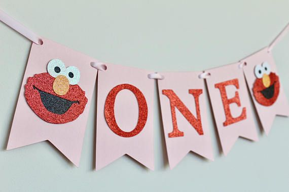 Elmo Birthday Banner Elmo Party Decorations Elmo High Chair