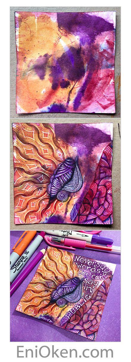 Learn how to create gorgeous Zentangle®️ art • enioken.com