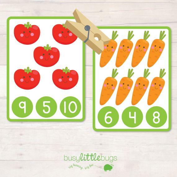 Number Peg it Vegetable