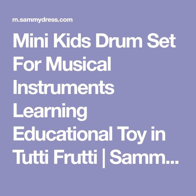Mini Kids Drum Set For Musical Instruments Learning Educational Toy in Tutti Frutti | Sammydress.com Mobile