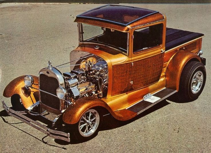 Hot Rod pick up #hotrodsvintagecars