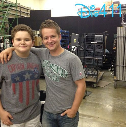 """Photo: Cade Sutton With Jason Earles On The Set Of """"Kirby Buckets"""" June 26, 2014"""
