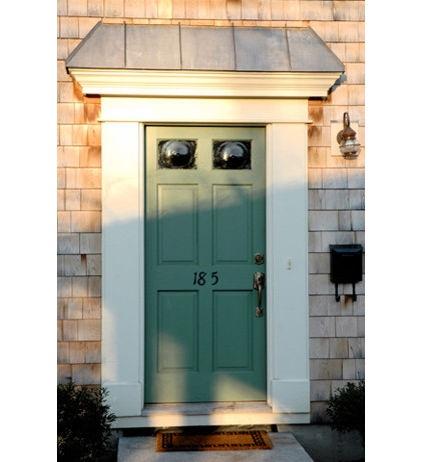 Sage green door