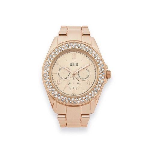 Elite Ladies Rose Tone Watch   Goldmark Australia