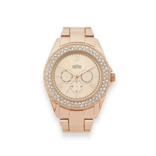 Elite Ladies Rose Tone Watch | Goldmark Australia