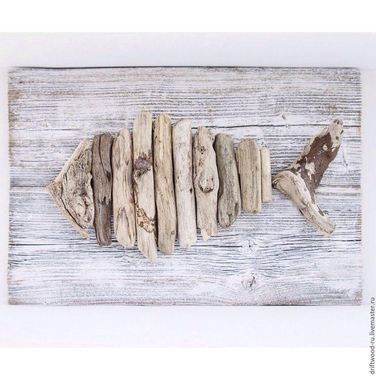 """Купить Панно из морских коряг """"Рыба"""" - рыба, панно, панно на стену, подарок, украшение, интерьер"""