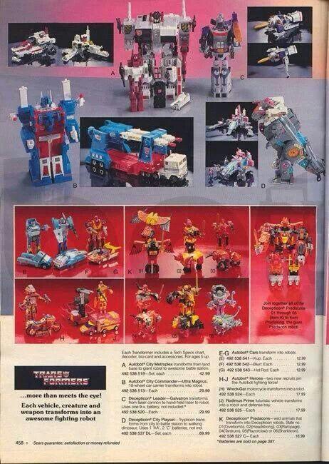 Transformers catalog 1986