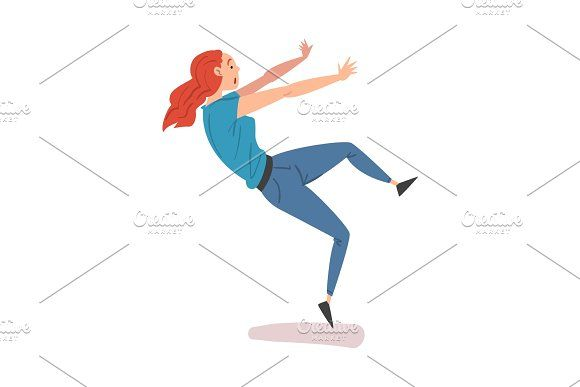 Young Woman Slipped And Lost Ladies Slips Girl Falling Girls Slip