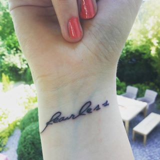You take my hand and drag me head first, fearless. | 26 Enchanting Taylor Swift-Inspired Tattoos