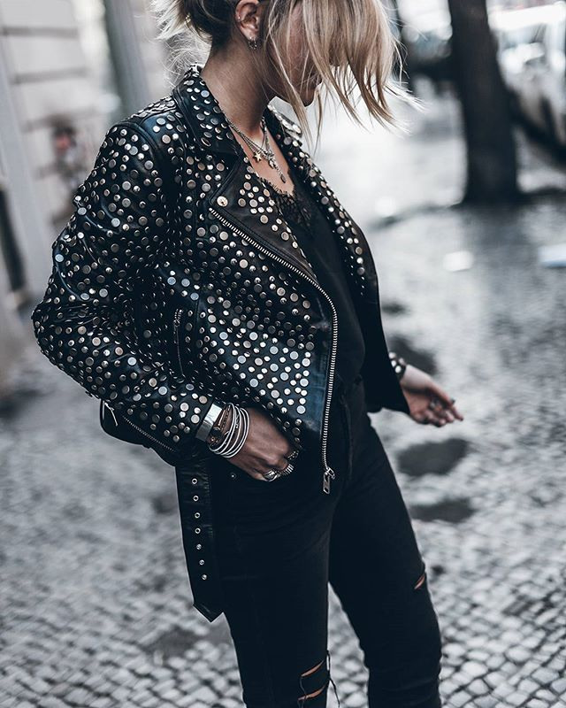 Jacket  Studded love  @revolve #studs #revolveme #lookfwrd http://liketk.it/2pW6o @liketoknow.it #liketkit
