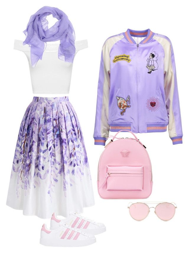 Ready for Friday ;) by moon-helena on Polyvore featuring polyvore, mode, style, WearAll, Opening Ceremony, Chicwish, adidas, Versace, Church's, LMNT, fashion and clothing