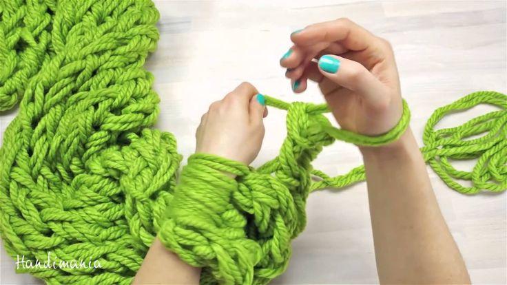 Creare una sciarpa in 30 minuti (a mani nude) fatta!!!!!!!!!!!!!!!!!!! Velocissima